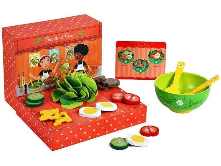 Bar Sałatkowy Dla Dzieci Zabawa W Gotowanie Akcesoria Djeco