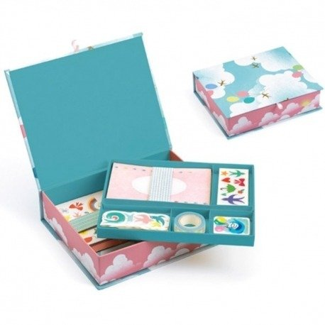 Zaawansowane Kuferek z zestawem papierniczym - zestaw kreatywny DIY dla dzieci SO75