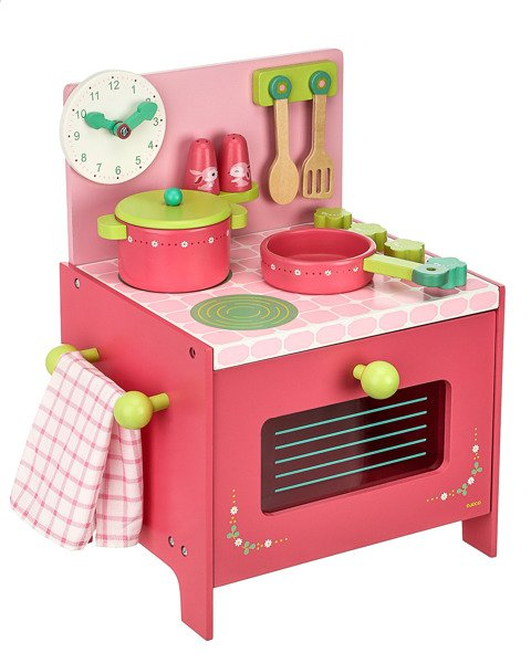 Drewniana Kuchnia Lili Kuchenka Do Zabawy Dla Dzieci Z Akcesoriami