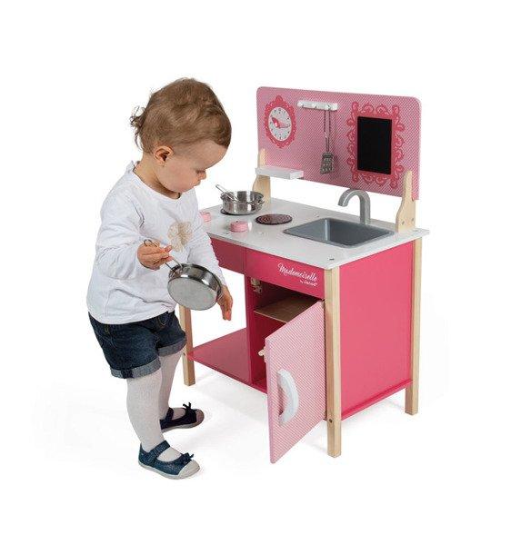 Drewniana Kuchnia Dla Dzieci Rozowa Mademoiselle Zlew Kuchenka 3