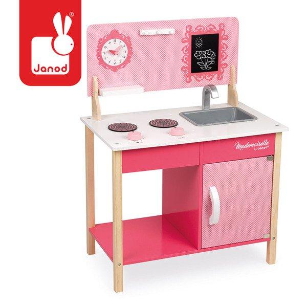 Drewniana Kuchnia Dla Dzieci Różowa Mademoiselle Zlew