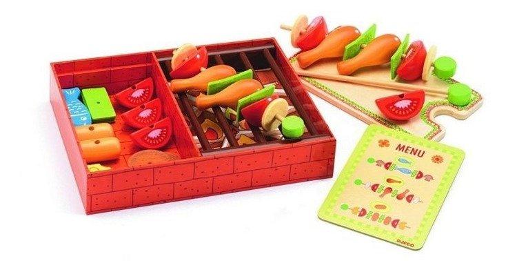 Drewniany Grill Dla Dzieci Grill Z Szaszłykami I Akcesoria Do