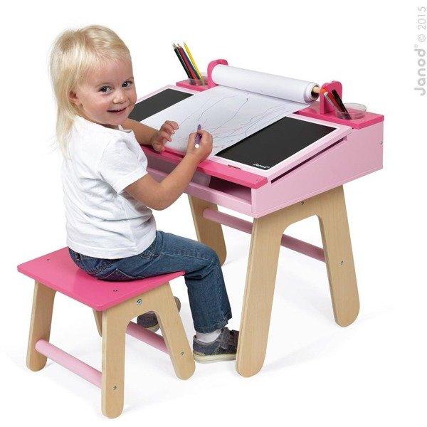 Drewniany Zestaw Stolik Plastyczny I Krzesełko Dla
