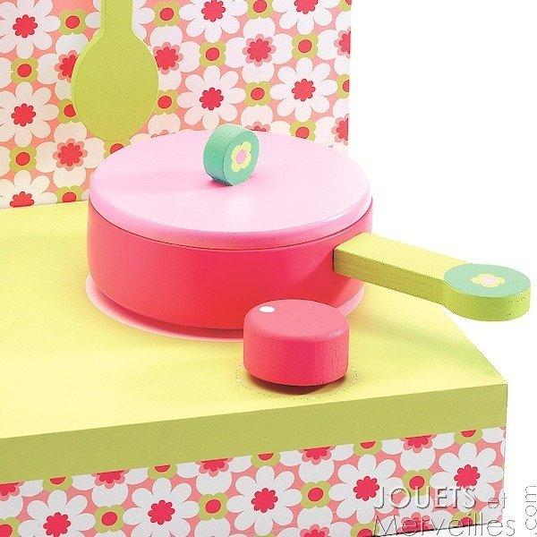 Mini Kuchnia Pastelowa Dla Dzieci Kuchenka Drewniana Do Zabawy Djeco