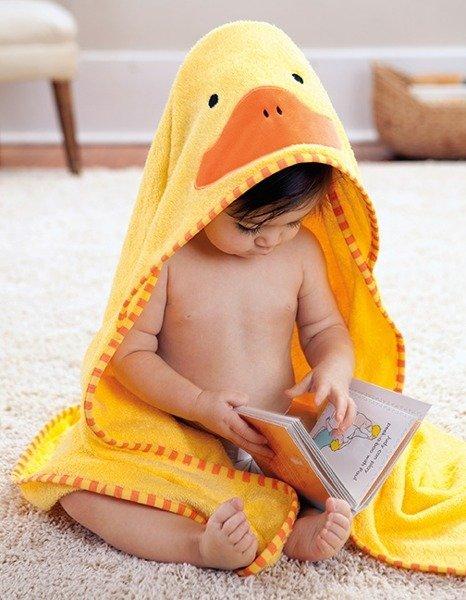13611e500 Ręcznik do kąpieli dla niemowlaka z kapturkiem - okrycie kąpielowe Zoo  Kaczka