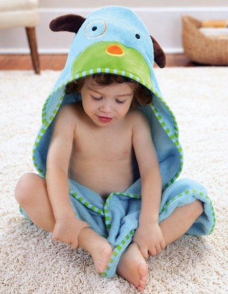 e86b2e562c ... Ręcznik do kąpieli dla niemowlaka z kapturkiem - okrycie kąpielowe Zoo  Pies ...