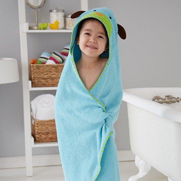 0bf01fff9 Ręcznik do kąpieli dla niemowlaka z kapturkiem - okrycie kąpielowe Zoo Pies