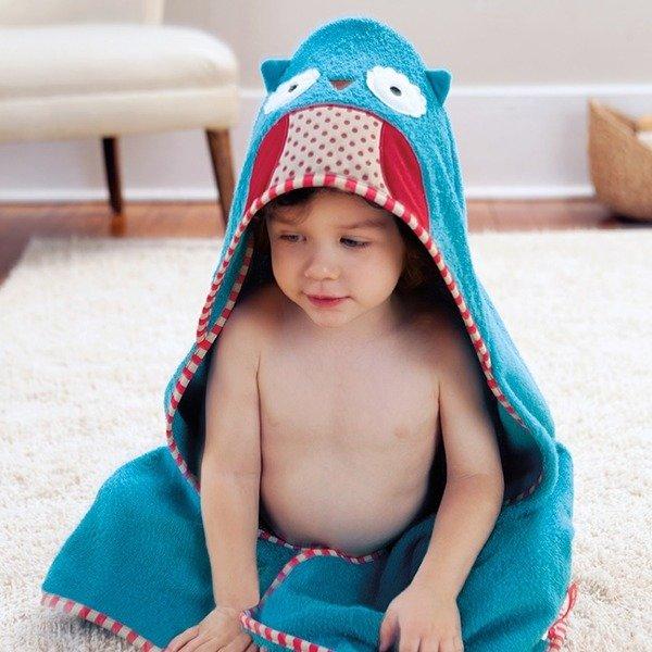 95820527df Ręcznik do kąpieli dla niemowlaka z kapturkiem - okrycie kąpielowe Zoo Sowa