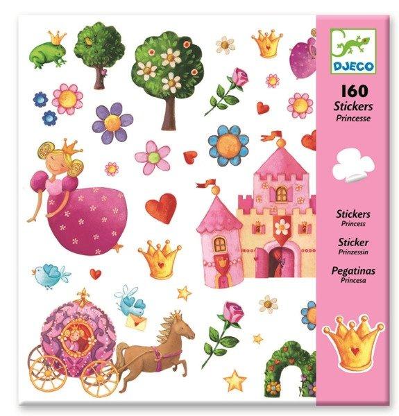 Dodatkowe Zestaw kreatywny 160 sztuk naklejek KSIĘŻNICZKA dla dziewczynek NF55