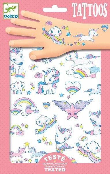 Zestaw Tatuaży Dla Dziecka Jednorożce Djeco Dj09575